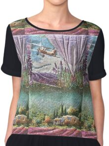 La Provence  My Creations Artistic Sculpture Relief fact Main 50  (c)(h) by Olao-Olavia / Chiffon Top