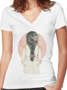 Doll 03 Women's Fitted V-Neck T-Shirt