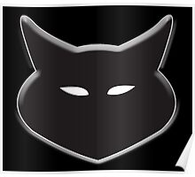CAT, Cat face, Silhouette, Moggy, Black cat, Pet, Feline, Puss, Cat Woman, Pussy Poster