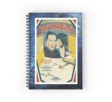 Wings Flying Airplane Vintage Piano Sheet Music Spiral Notebook