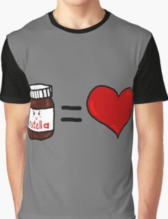 Nutella Is Love Graphic T-Shirt