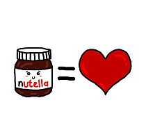 Nutella Is Love Photographic Print
