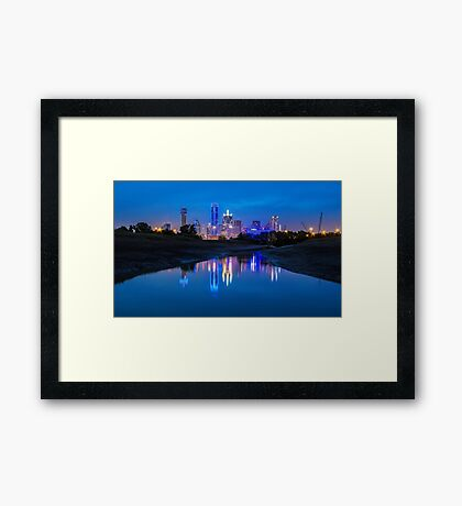 "Dallas ""Police Tribute"" Skyline 2016 Framed Print"