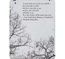 Snow In The Woods - Lewis Carroll Quotation iPad Case/Skin