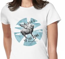 Flying sheep knitting needles bad to the bone Womens Fitted T-Shirt
