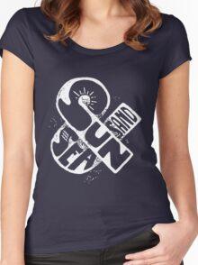 Sun & Sea & Sand Ampersand - Trendy Summer Design  Women's Fitted Scoop T-Shirt