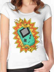 Game Boy Old School Women's Fitted Scoop T-Shirt