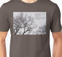 Snow In The Woods - Lewis Carroll Quotation Unisex T-Shirt