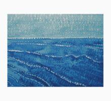 Japanese Waves original painting Kids Tee