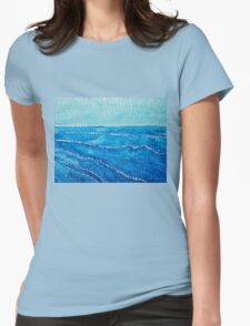 Japanese Waves original painting Womens Fitted T-Shirt
