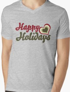 Happy Holidays Mens V-Neck T-Shirt