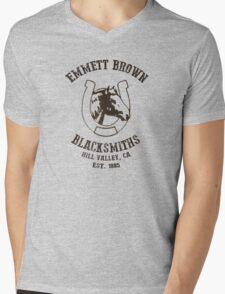 Emmett Brown Blacksmiths T-Shirt Mens V-Neck T-Shirt