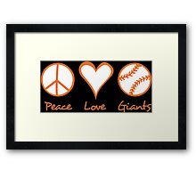Peace, Love, Giants Framed Print