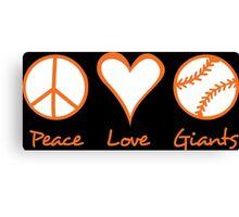 Peace, Love, Giants Canvas Print