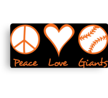 Peace, Love, Giants Canvas Print