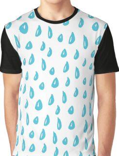 Funny ink blue rain Graphic T-Shirt