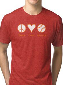 Peace, Love, Giants Tri-blend T-Shirt
