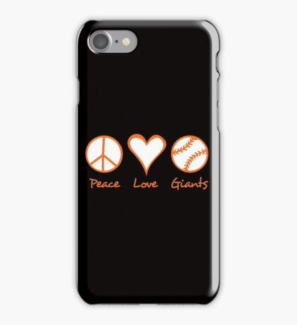 Peace, Love, Giants iPhone Case/Skin