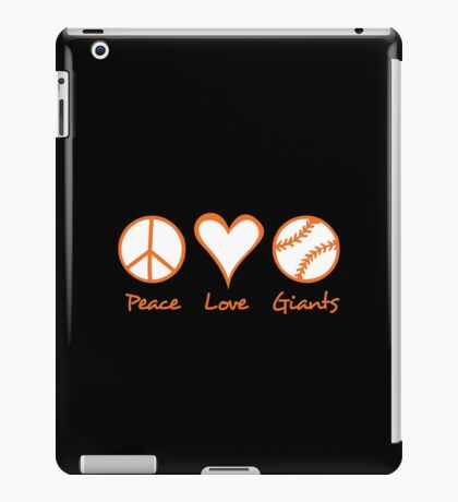 Peace, Love, Giants iPad Case/Skin