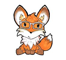 Geeky Fox Photographic Print