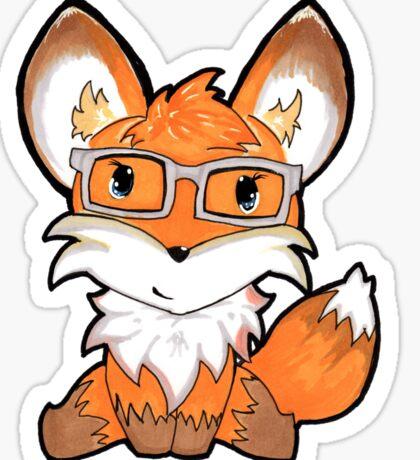 Geeky Fox Sticker