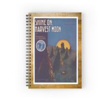 Shine On Harvest Moon Vintage Piano Sheet Music Spiral Notebook