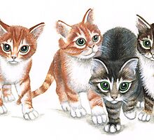 tabby kittens by mindgoop