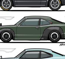 Stack of Mazda Savanna GT RX-3 Coupes Sticker