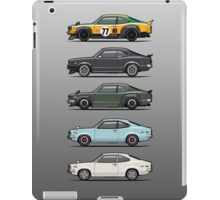Stack of Mazda Savanna GT RX-3 Coupes iPad Case/Skin
