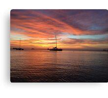 Sundown in Aruba Canvas Print