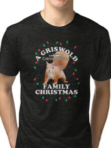 National Lampoon's - Christmas Full Squirrel Attack Tri-blend T-Shirt