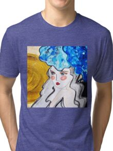 Girl Blue Tri-blend T-Shirt
