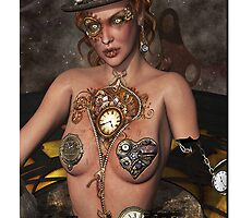 Mother Time Surreal Steam punk Art by Debra Richie