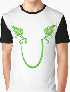 Letter U Graphic T-Shirt
