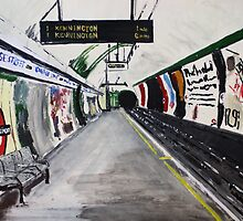 London Underground Goodge Street Northern Line Tube Station Acrylic Painting by JamesPeart