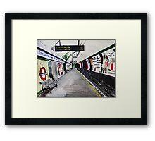 London Underground Goodge Street Northern Line Tube Station Acrylic Painting Framed Print