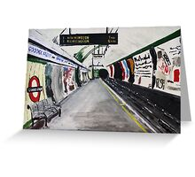 London Underground Goodge Street Northern Line Tube Station Acrylic Painting Greeting Card