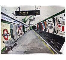London Underground Goodge Street Northern Line Tube Station Acrylic Painting Poster