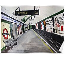 London Underground Goodge Street Northern Line Tube Station Acrylic Painting Poster