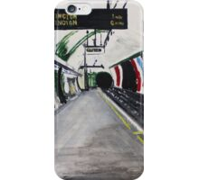 London Underground Goodge Street Northern Line Tube Station Acrylic Painting iPhone Case/Skin