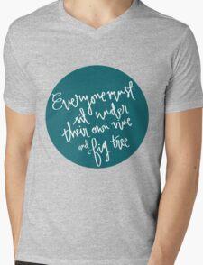 Vine and Fig Tree Mens V-Neck T-Shirt