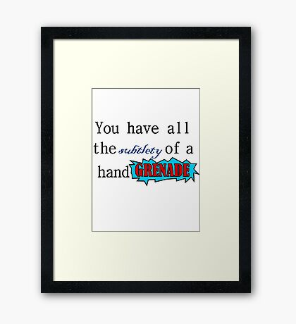 Quote: Spencer Hastings Framed Print