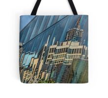 Streetscape Reflected on Surface of the AGO Tote Bag