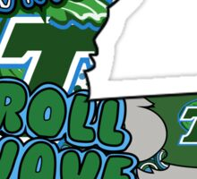 Louisiana Shaped Tulane Collage Sticker