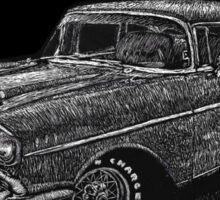 '57 Chevy Scratchboard Sticker
