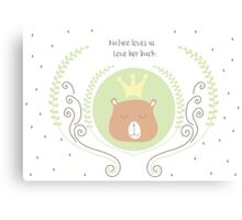 Cute little bear Canvas Print