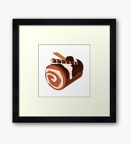 Chocolate Dessert Roll Framed Print