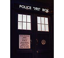 Travel in time through the TARDIS Doors.... Photographic Print