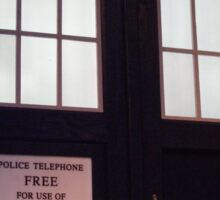 Travel in time through the TARDIS Doors.... Sticker