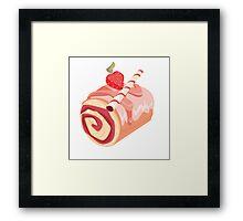 Strawberry Dessert Roll Framed Print